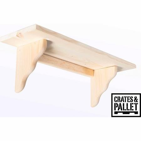 Crates and Pallet Small Wood Shelf (Unfinished Wood Shelves compare prices)