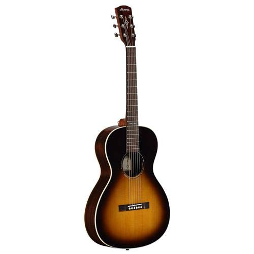 - Alvarez Jazz & Blues BLUES51W 6-String 12th Fret Arch Back Acoustic Guitar, 20 Frets, Mahogany Neck, Pau Ferro Fingerboard, Solid A+ Sitka Spruce Top, Gloss, Tobacco Sunburst