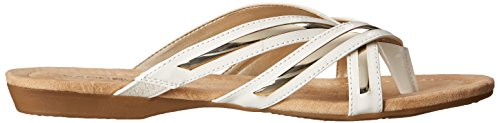 Bandolino Womens Naccari Synthetic Flip Flop White 9wzLcphX