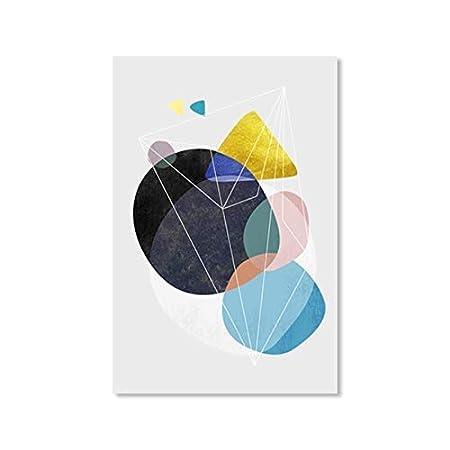 Patrón redondo minimalista arte de la pared abstracto ...