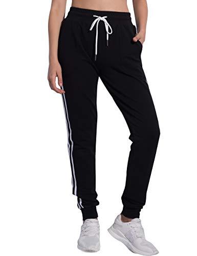 PULI Women Pants Casual Tie Waist Yoga Jogger Pants Black Large]()