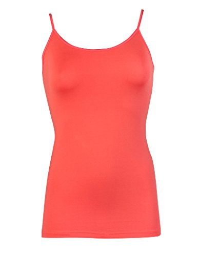 RJ Traditional Bodywear Pure Color Top for Frauen in Koralle (verstellbar) 32-011 Koralle NmhBb
