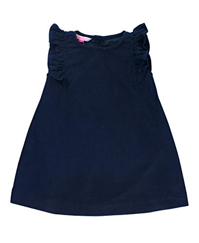 RuffleButts Baby/Toddler Girls Navy Corduroy Jumper Dress - -