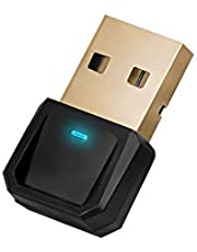 USB Bluetooth Adapter 5.0 for PC Windows10/8/7/XP/vista, Bluetooth Dongle for Headphones, Mouse, Printers, Ps4, Ps5 Controller