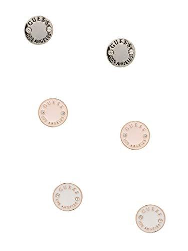 GUESS Factory Women's Enamel Logo Button Stud Earrings Set