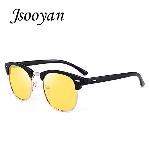 2667bc48f2 Jsooyan 2018 Polarized Sunglasses Men Fashion Night Vision Driving Sunglass  Classic Retro Round Shades Sun Glasses Male Eyewear  Amazon.co.uk  Clothing