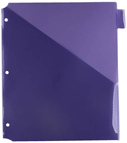 Poly Index Dividers, Double Pocket, 8-Tab, 8-1/2