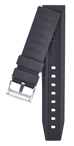 212ZTD 20mm Black Rubber fit for Formula 1 BT0714 CAU111 Replacement Watch Band Strap Free Spring BAR Tool - Formula Bt0714
