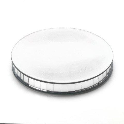 Darice 1636-102 Floral Mirror Round Pedestal 8 Inches