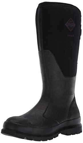 Muck Boot Women's Chore Wide Calf Rain Boot, Black, 7 Medium Shaft US