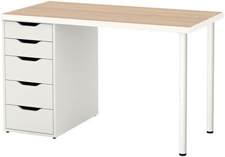 Ikea Linnmon Alex Table 47 White Stained Oak Effect 992.143.04