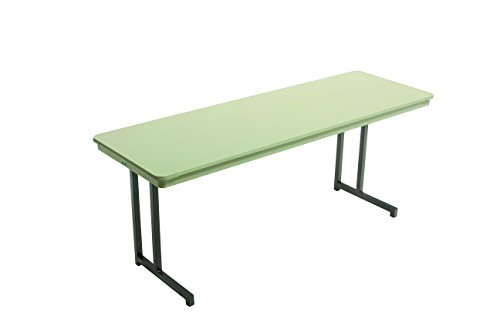 Mobile Seminar Tables - Dynalite Featherweight Heavy-Duty ABS Plastic Training Table, Rectangle, 24