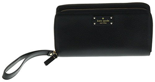Kate Spade New York Grove Street Anita Wristlet Handbag Clutch Purse Wallet (Black) by Kate Spade New York