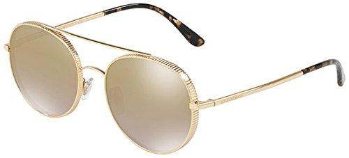 Lunettes de Soleil Dolce & Gabbana GROS GRAIN DG 2199 GOLD/BROWN GOLD SHADED femme