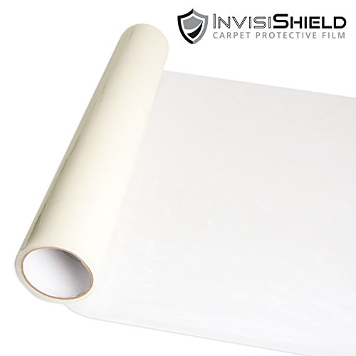 InvisiShield Carpet Protector Film - 24 Inch x 200 Foot Adhesive Plastic Floor Protection Film