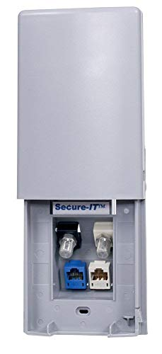 Hubbell Wiring Systems TWPF1GY Secure-IT 1-Gang Weatherproof Face Plate, 4-Port, Gray