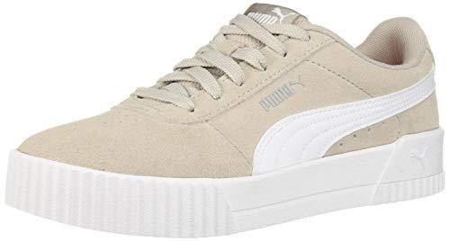 PUMA Women's Carina Sneaker Gray White Silver, 6 M US