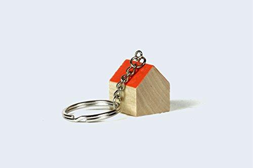 Home Sweet Home Wooden Key Chain Wood KeyChain (Orange)