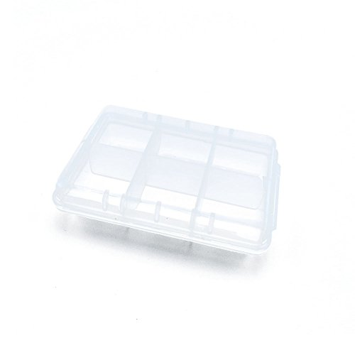 10 PCS Clear Beads Tackle Box Arts Crafts Tackle Storage Plastic Boxes Organizers Containers Case XX002 by YUANLAI BOX