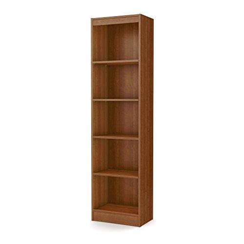 Tall Skinny Bookshelf Morgan Cherry 5-shelf Narrow (Tall Skinny Shelves)
