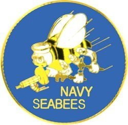 Seabees Lapel Pin or Hat Pin from KCM