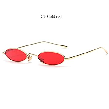 95f234d1b8e Small Oval Cat eye Sunglasses for Women Retro Brand Designer Red Sun Glasses  Men Small Round Glasses Female Gold Red  Amazon.co.uk  Beauty