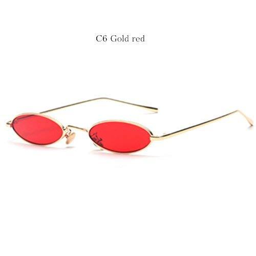 y diseño ovaladas rojo redondas de mujer pequeñas y retro rojas sol de gafas para sol Gafas gafas de para hombres dorado sol color WEqwFTSXX