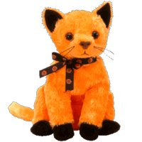 TY Beanie Baby - SCARED-e the Cat (Internet (Cat Halloween Scared)
