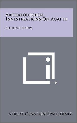 Book Archaeological Investigations on Agattu: Aleutian Islands