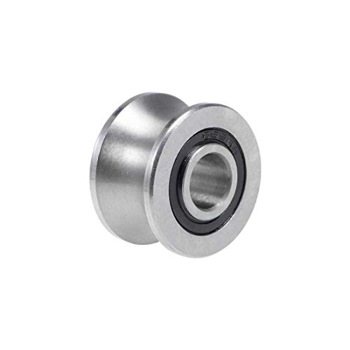 (ZCHXD U22 U-Groove Ball Bearing 8x22.5x13.5mm Guide Pulley Bearings for 12mm Shaft (Z2 Lever) )