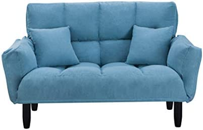 Small Loveseat Sofa 55 Inch Modern Loveseat Sofa Sleeper Sofa Convertible Futon Sofa Bed Small Couch