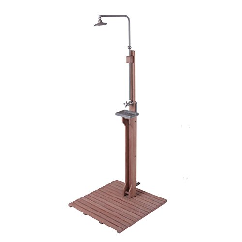 Cambridge Casual Astoria Outdoor Shower, 30 inches long x 30 inches wide x 77 1/2 to 81 1/2 inches high by Generic