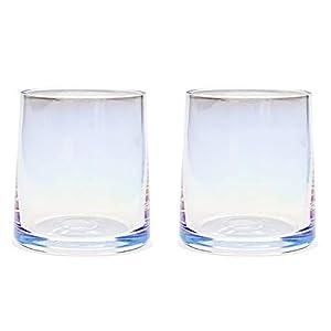 AIKASA - Set di 2 bicchieri da whisky, colorati, soffiati a mano, senza piombo, lavabili in lavastoviglie, regalo… 2 spesavip
