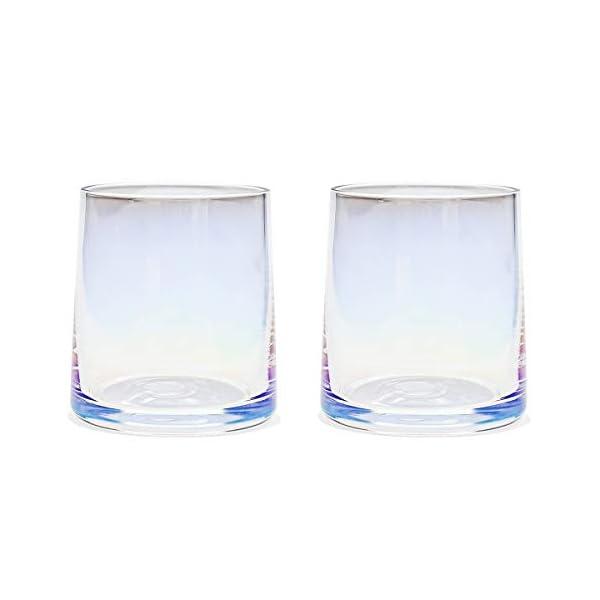 AIKASA - Set di 2 bicchieri da whisky, colorati, soffiati a mano, senza piombo, lavabili in lavastoviglie, regalo… 1 spesavip