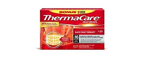 ThermaCare 081144658 Air-Activated Heat Wraps Back and Hip