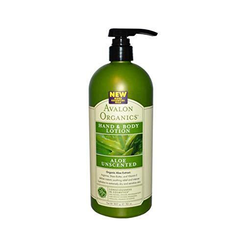 Avalon Organics Hand and Body Lotion Aloe Unscented  32 oz