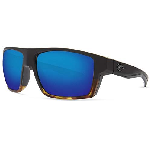 Costa Bloke, Blue Mirror 400G Glass, Matte Black/Shiny Tortoise Frame ()