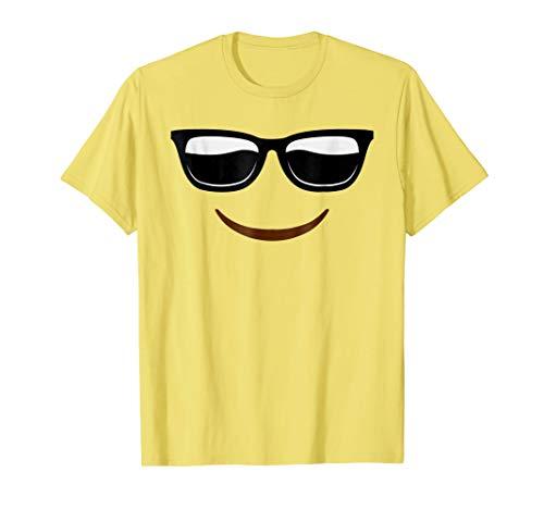 Halloween Emojis Costume Shirt Cool Sunglasses Face Emoticon ()