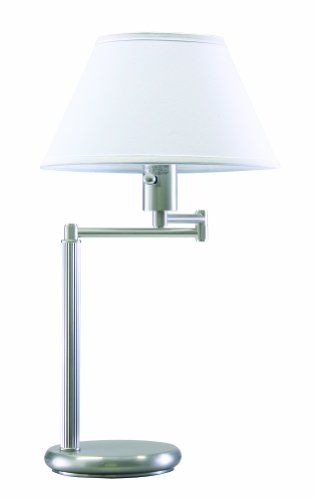 Two Column Table Lamp - House of Troy D436-52 Home/Office Collection 23-1/2-Inch Swing Arm Desk Lamp, Satin Nickel