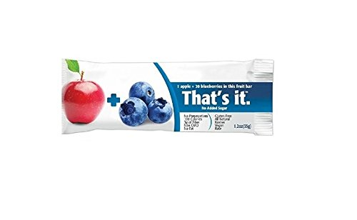 (That's It Fruit Bars, Apple and Blueberry, Pack of 24 (2)