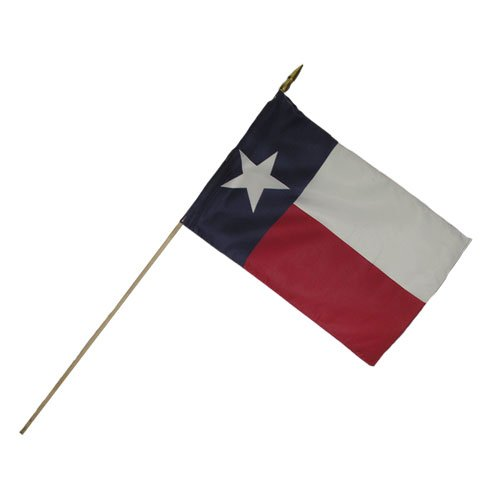 Valley Forge Valprin 12x18 Inch Polyester Texas Stick Flag