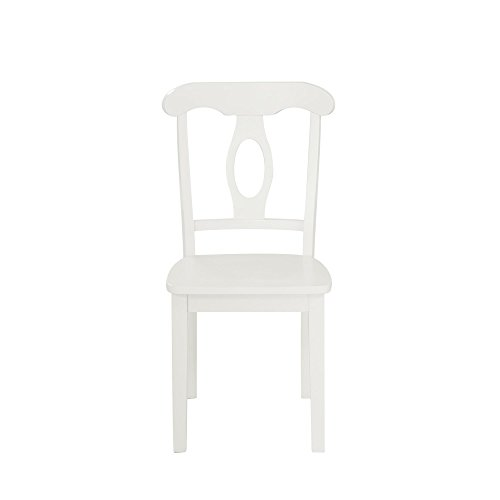 Aubrey 5 piece Traditional Height Pedestal Dining Set, White by Dorel Living (Image #5)
