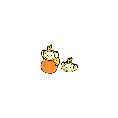 Laa-Laa Yellow Teletubbie Silver Tone Cartoon Comic Logo Post Earrings w/Gift Box by Superheroes - Adult Laalaa Teletubbies Costumes