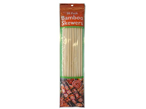 Heavy Duty Barbecue Bamboo Skewers Set - Pack of 72 by Bar-B-Q Time