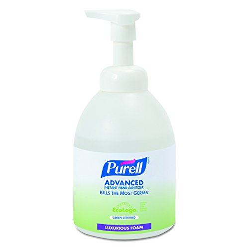PURELL 579104CT Green Certified Instant Hand Sanitizer Foam, 535 ml Bottle (Case of 4) 535 Ml Pump Bottle