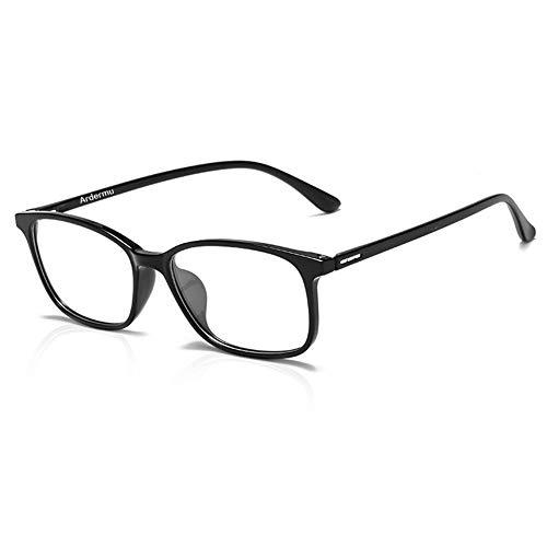 Ardermu Gafas de Computadora - Gafas de Bloqueo de Luz Azul - Sin Aumento Lentes Antideslumbrantes Anti Ultravioleta - Gafas Anti Fatiga Ocular - Equipo Esencial Para Juegos Unisex y Elegante