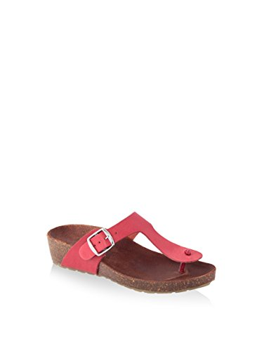 HH MADE IN ITALY F SD017_ROSSO PELLE SANDALO BASSO