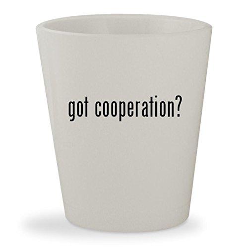 got cooperation? - White Ceramic 1.5oz Shot - Cooper Anderson Sunglasses