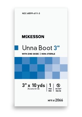 Sammons Preston Unna Boot McKesson 3 Inch X 10 Yard Cotton Zinc Oxide NonSterile - 1 Box