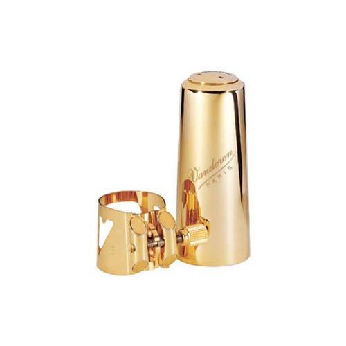 Vandoren LC09M Optimum Baritone Saxophone Gold-Gilded Ligature and Cap
